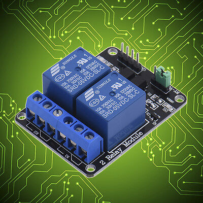 NEW 5V 2 Channel Relay Module With optocoupler For PIC AVR DSP ARM Arduino