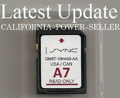 2013 to 2015 Ford Taurus Lincoln MKS MKT Navigation SD card U.S Canada Map A7