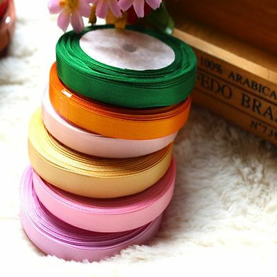 "Party Bows New 5/8'' Wrapping Yards 3/8"" Wedding Handicraft Satin Ribbon"