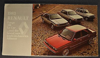 1983 Renault Mailer Brochure Folder Alliance Fuego 18i Le Car Excellent Original