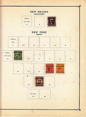 UNITED STATES OF AMERICA Albany.... Pre-cancels on Page Removed for Shipping