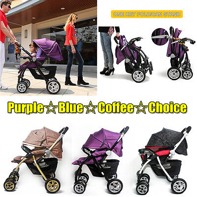 New 4 In 1 Baby Toddler Pram Stroller Jogger Aluminium With Bassinet 3 Colors Au