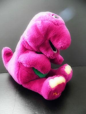 Vintage Barney & Friends BARNEY Hand Puppet Plush Toy (14 INCHES)