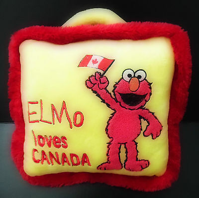 Sesame Street ELMO LOVES CANADA PILLOW (10.5 INCHES)