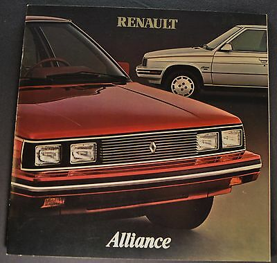 1983 Renault Alliance Catalog Sales Brochure Excellent Original 83
