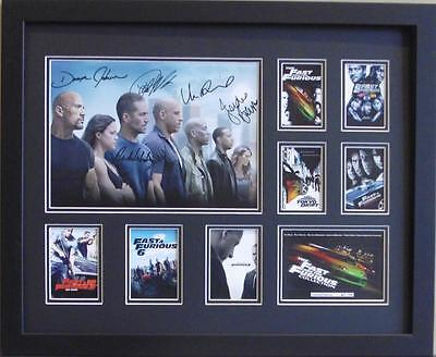 Fast And Furious 1-7 Paul Walker Signed Limited Edition Framed Memorabilia