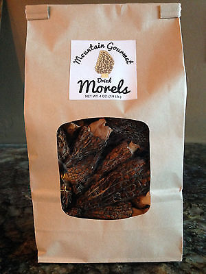 Wild Northwest Dried Morel Mushrooms 4 oz