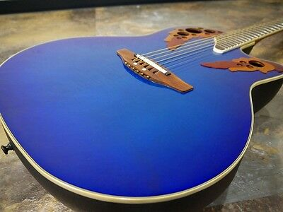 Ovation Celebrity CSE44 Blue w/hard case Free shipping Guiter From JAPAN #N22