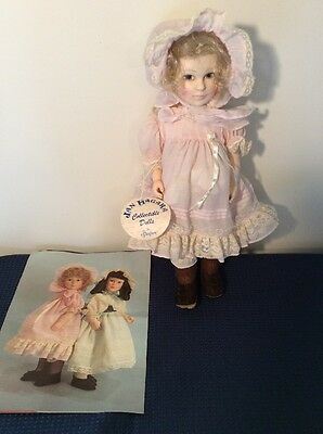 "Vintage Effanbee Jan Hagara 15"" Laurel Doll 7484 Pink Dress"