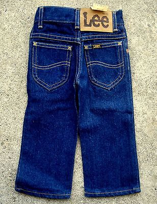 Vintage 70's 80's LEE Riders kids jeans Size 1 yellow stitch dead stock