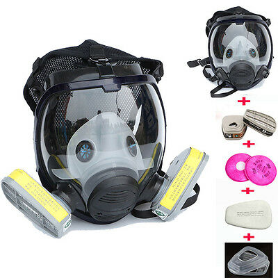 9 in 1 Suit Painting Spraying For 3M6800 Gas Mask Full Face Facepiece Respirator