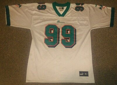 Vintage Miami Dolphins NFL Jersey Shirt Size L Large 99 Taylor Puma