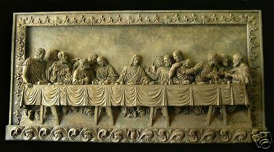 Last Supper stone Wall relief Plaque art sculpture home church garden decor