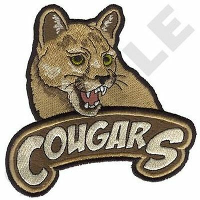 """Cougars Embroidered Patch 5""""x5"""""""