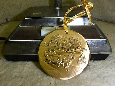Wendell August Forge Solid Bronze Christmas Ornament Sleigh Ride 1995