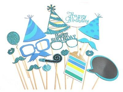 DIY Party Photo Booth Props on Sticks For Kids Birthday Show Decoration