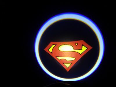 2X Wireless Car Door Led Welcome Projector Logo Ghost Shadow Light For SUPERMAN