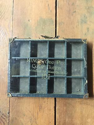 Vintage Kings One Piece Collor Buttons 10 Cent Country / General Store Display