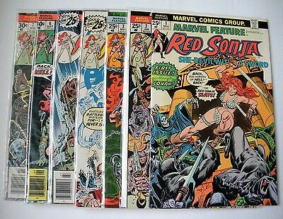 Marvel Feature #1 Red Sonya (Nov 1975, Marvel) (collection of 1-7) all 9.2 NM-