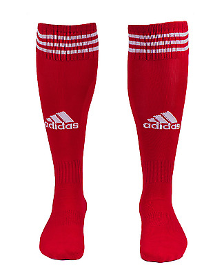 Adidas Game 13 Soccer Stockings Sports Football Crew Socks Red Pair Sock L48839