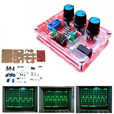 Function Signal Generator DIY Kit with Case Sine Triangle Square Wave 1HZ-1MHZ