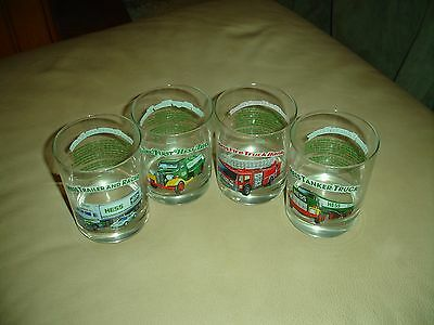 HESS 1996 Classic Toy Truck Series Glasses Set of 4 Drinking Glasses Unused