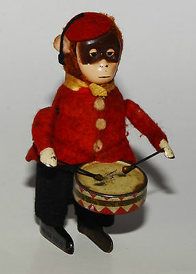 Schuco Tanzfigur - Affe als Trommler - Made in Germany