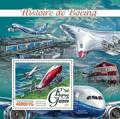 Guinea 2016 MNH History of Boeing Aircraft 777 4v M/S Aviation Stamps