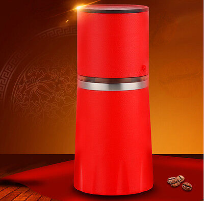 Portable Outdoor Red Manual Grinder Mill Grinding Tool Coffee Bean Grinder #