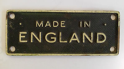 """Vintage sign/ plate """"Made in England"""""""
