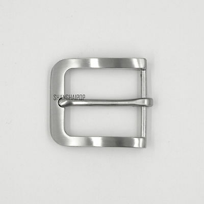 Stainless Steel Pin Buckle Men Leather Belt Replacement Snap On 40mm Silver New