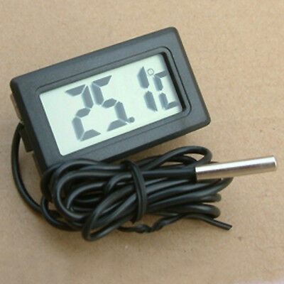 Black LCD Digital Fish Tank Aquarium Water Temperature Gauge Thermometer Useful