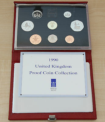 *** 1990, United Kingdom Coin Collection Proof Set in original case ***