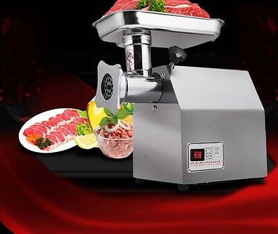 New Commercial Home Electric Stainless Steel Meat Grinder Automatic Mincer *