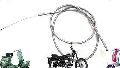 Lambretta  Li Gp Sx Tv Throttle Cable Inner And Outer Grey @aud