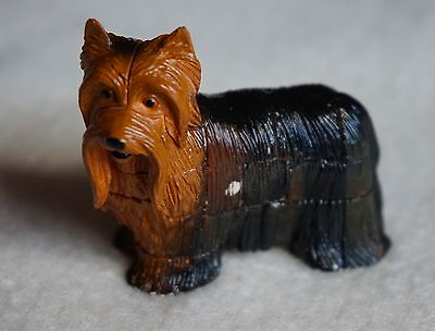 NEW Vintage Japan Yorkshire Terrier Dog 19 Pcs 3D Puzzle with Yellow Cage