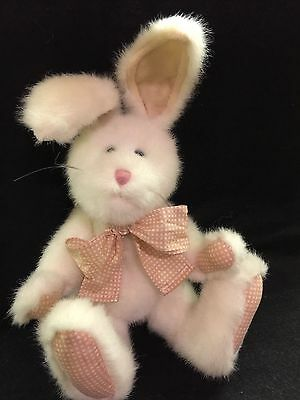 "Boyds Bears PEACHES THUMPSTER White Easter Bunny Rabbit. Plush 10"". Rare in UK"