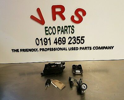 06 11 Fiat Grande Punto 1.4 8V Ecu Lock Set Kit 51827440 Ref Eg349 #1084
