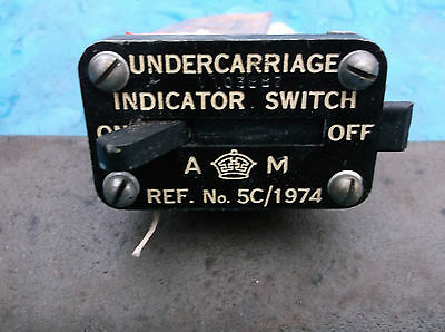 ww2 raf spitfire undercarrigeindicator switch pt 5c/1974
