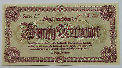 GERMANY 20 MARK 1945 UNC   #alb11 271