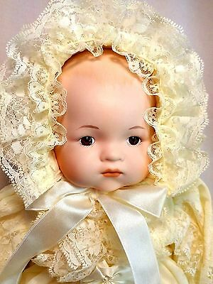 "Dynasty Collection QVC Vintage Christening Christina Baby 15"" Porcelain Doll MIB"
