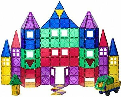 Playmags 100 + 18 Piece Set Clear Magnetic Tiles Building Toys Creative Play