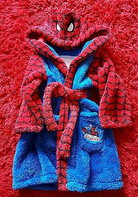 boys spiderman dressing gown age 5-6 BRAND NEW