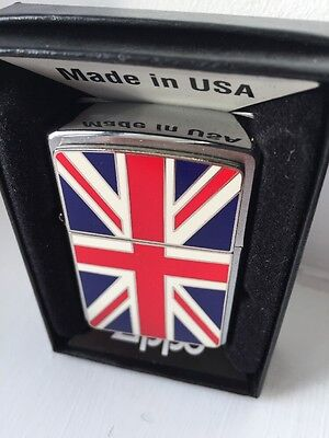 Zippo Lighter UK Union Jack made in USA new with box