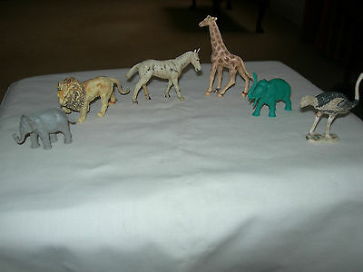 Plastic Zoo Animals Vintage/retro
