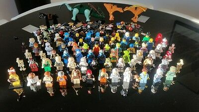 Joblot (more than 80) Lego Minifigures and Star Wars Animals + pile accessories