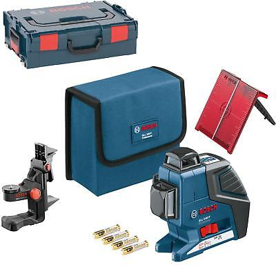 BOSCH Line laser GLL 3-80 P with Universal mount BM 1, target plate, L-Boxx