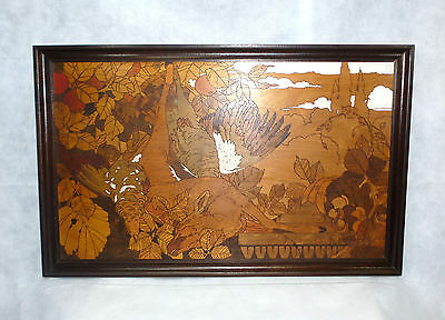 XXL extraordinary Picture Brand painting Switzerland um 1900 Hunting Prey Hunter