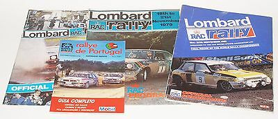 WRC 4x Rally Programmes Lombard RAC & Portugal EXCELLENT
