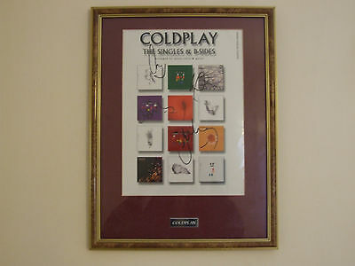 Coldplay original fully signed & framed autographs in beautiful condition